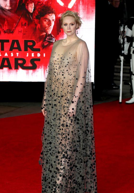 "Gwendoline Christie – ""Star Wars: The Last Jedi"" Premiere in London"