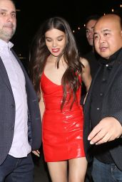 Hailee Steinfeld in Red Mini Dress - 21st Birthday Party at The Nice Guy in West Hollywood 12/16/2017