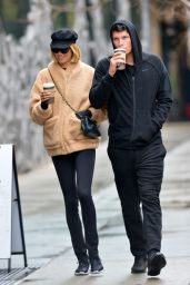 Hailey Clauson and Boyfriend Julian Herrera - Sipping Coffees in NYC 12/13/2017
