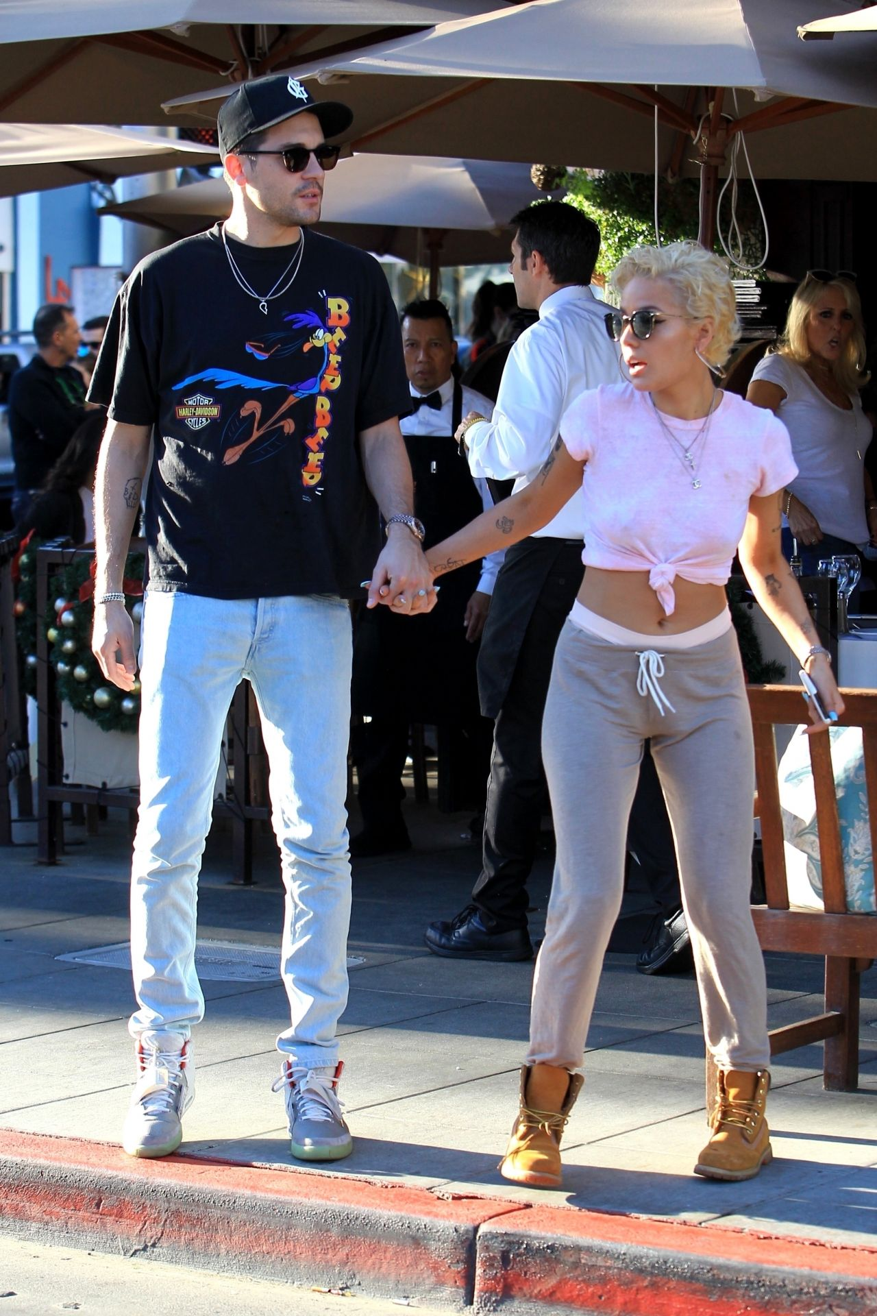 Halsey And G Eazy Leaving Il Pastaio In Beverly Hills