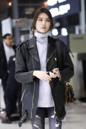 He Sui at Shanghai International Airport 12/10/2017