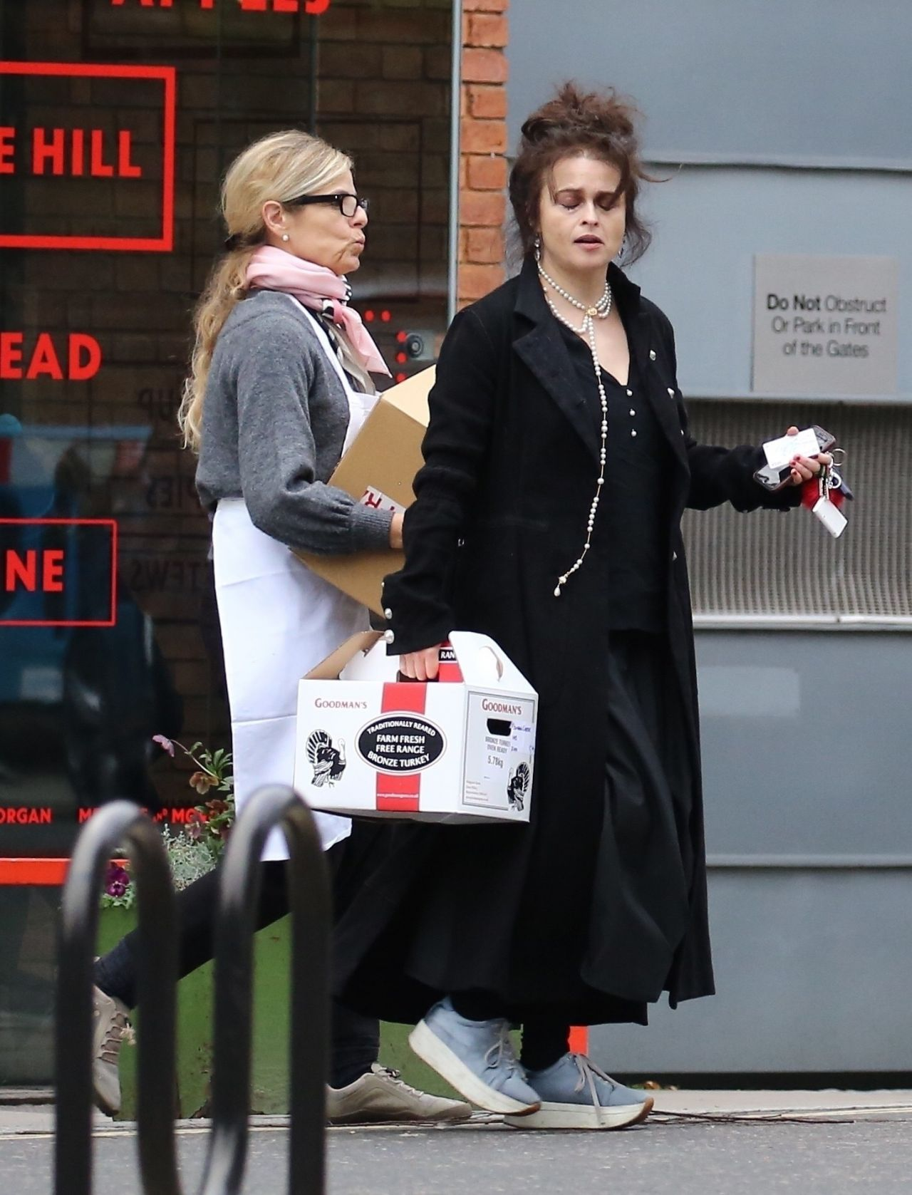 Helena Bonham Carter - Out in London 12/24/2017