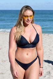 Iskra Lawrence in Bikini on the Beach in Miami 12/11/2017