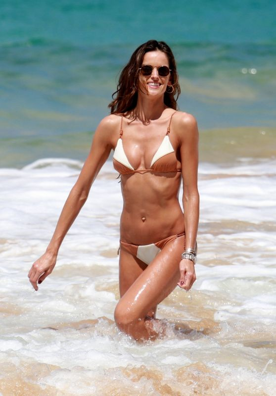 Izabel Goulart in Bikini on the Beach in Brazil
