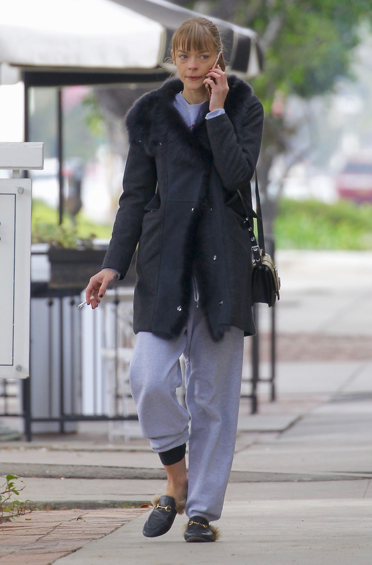 Jaime King - Grabbing a Cold Beverage From Alfred Coffee in West Hollywood