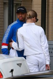 Jasmine Sanders and Terrence J Christmas Shopping in Beverly Hills