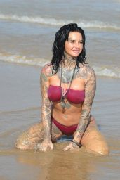 Jemma Lucy in a Pink Bikini on Holiday in Gran Canaria