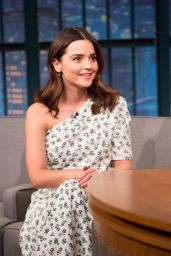 Jenna-Louise Coleman - Late Night With Seth Myers in NYC 12/13/2017