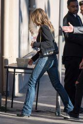 Jennifer Aniston Arrive to Appear on Jimmy Kimmel Live in Los Angeles