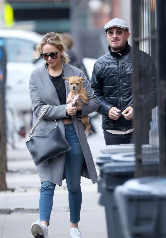 Jennifer Lawrence and Darren Aronofsky in NYC