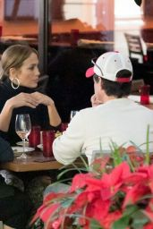 Jennifer Lopez and Alex Rodriguez Dines at a Miami Restaurant 12/16/2017
