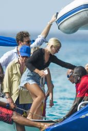 Jess Woodley Onboard a Party Boat in Barbados