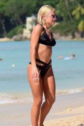 Jessica Woodley in Bikini on the Beach in Barbados 12/13/2017