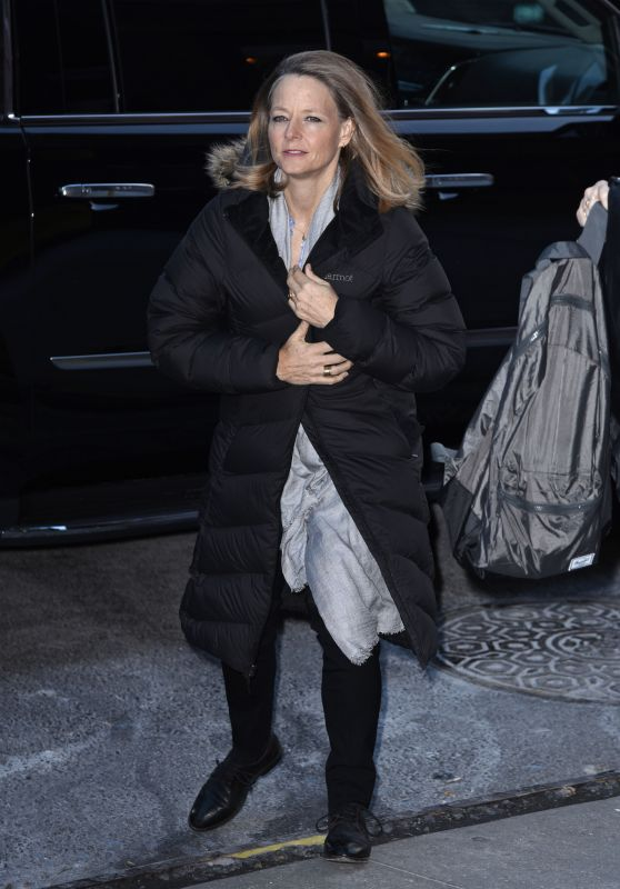 Jodie Foster at CBS This Morning Studios in NYC 12/11/2017