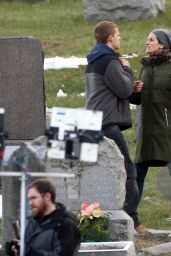"""Julia Roberts - """"Ben is Back"""" Movie Set in Haverstraw, NY 12/19/217"""