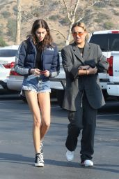 Kaia Gerber Leggy in Jeans Shorts - Out in Malibu 12/16/2017