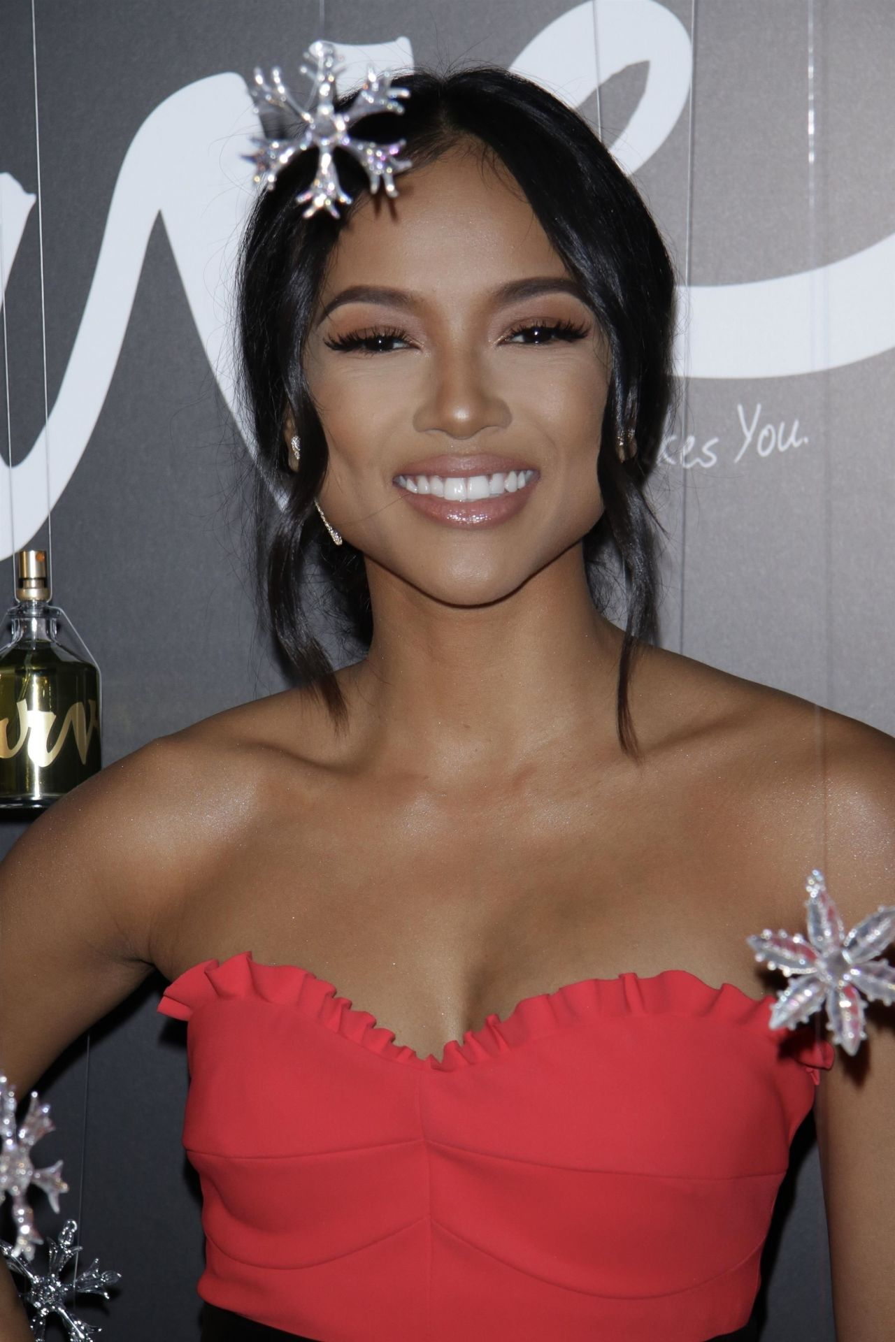 Karrueche Tran - Curve Fragrances for Men Holiday Party in NYC