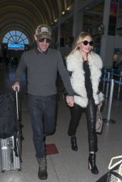 Kate Bosworth and Michael Polish at LAX Airport in Los Angeles