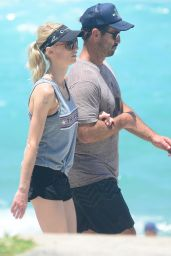 Kate Kendall and Andrew Johns On Bondi Beach in Sydney