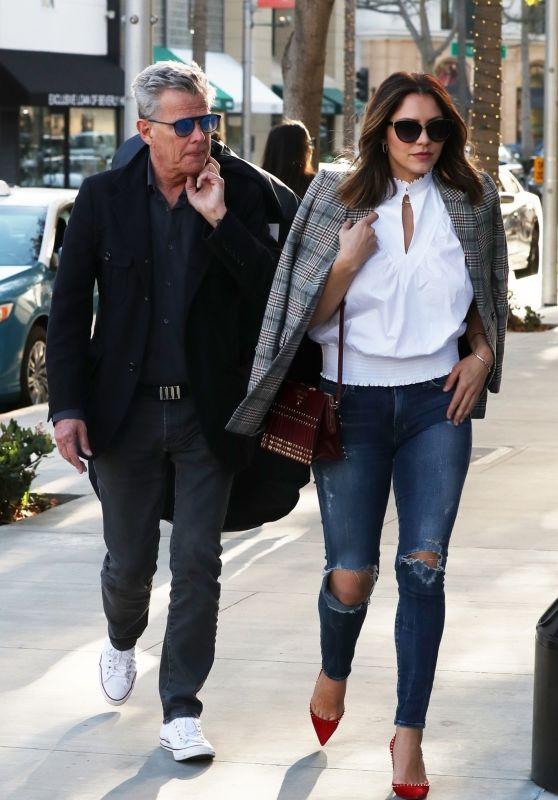 Katharine McPhee Street Fashion - Shopping in Beverly Hills 12/17/2017