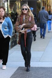 Kathryn Newton Christmas Shopping in Beverly Hills
