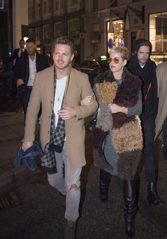 Katy Perry With a Mystery Man - Night Out in Denmark