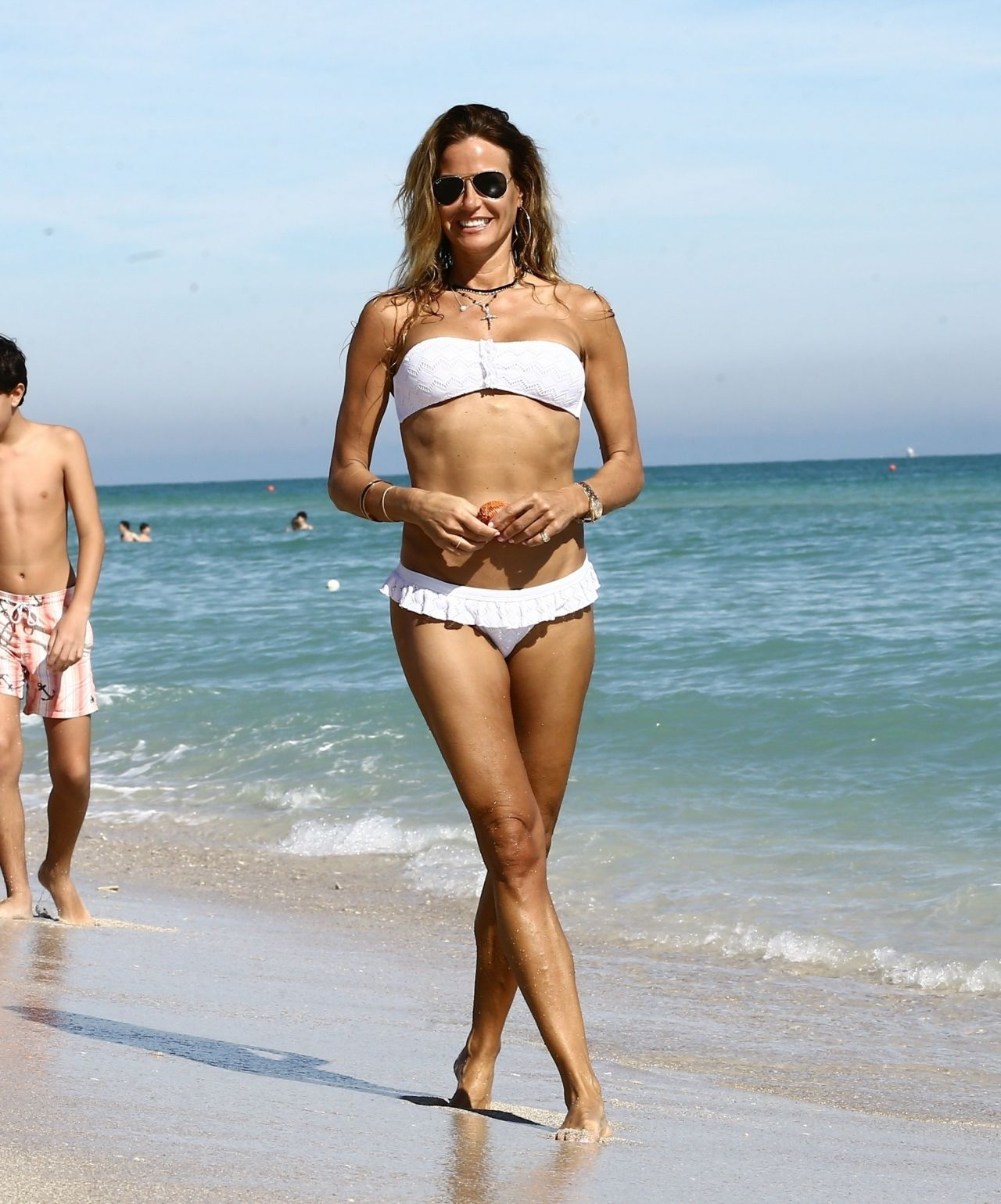 Kelly Bensimon in White Bikini in Miami Pic 21 of 35