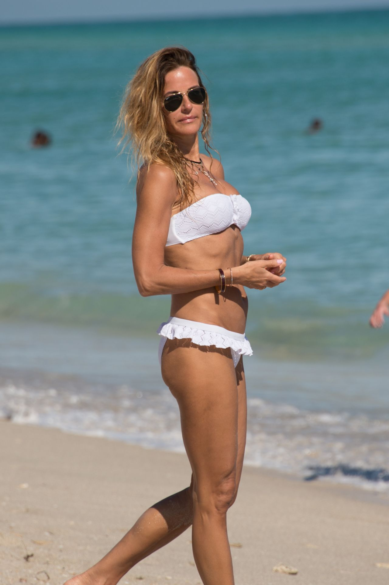 Kelly Bensimon in White Bikini in Miami Pic 22 of 35