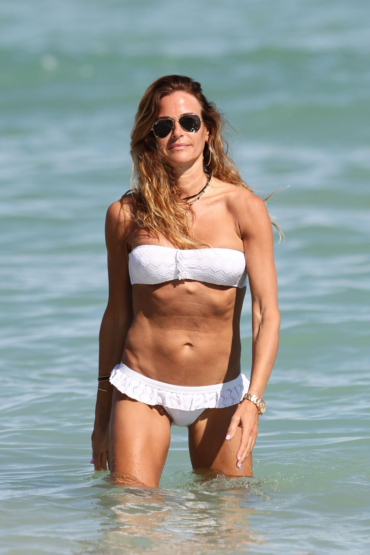 Kelly Bensimon in White Bikini in Miami Pic 11 of 35