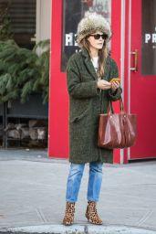 Keri Russell Winter Street Style - East Village in NYC 12/21/2017