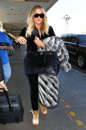 Khloe Kardashian at LAX Airport in Los Angeles