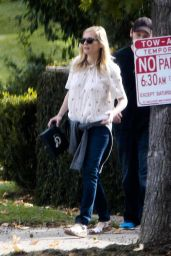 Kirsten Dunst - Heads to an LA Rams Football Game in Los Angeles