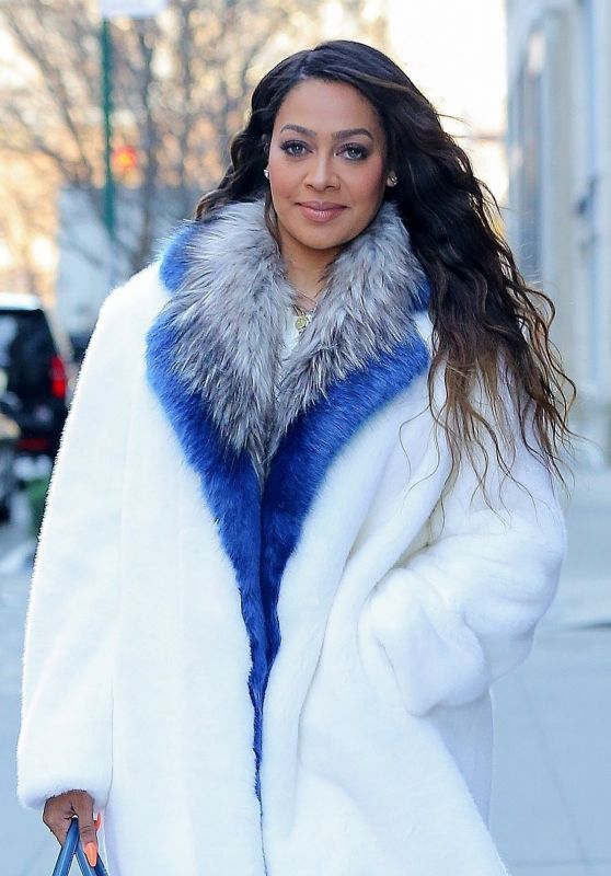 La La Anthony in Winter Inspired Look in NYC