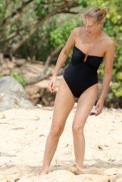Lara Bingle in Swimsuit - Relaxes on the Beach in Hawaii