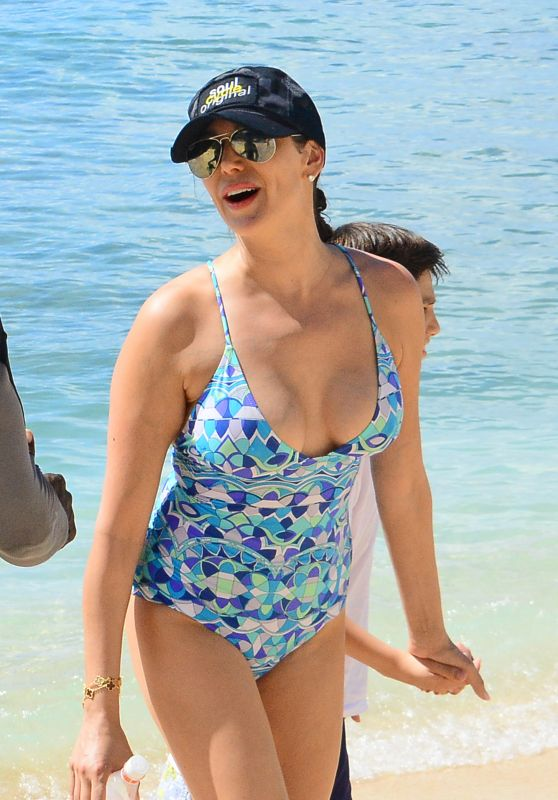 Lauren Silverman and Carole Davis in Swimsuits on Holiday in Barbados 12/23/2017
