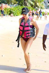 Lauren Silverman Enjoys Jet Ski Ride - Barbados 12/20/2017