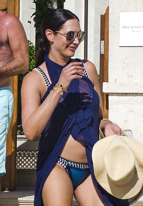 Lauren Silverman in Bikini on the Beach in Barbados