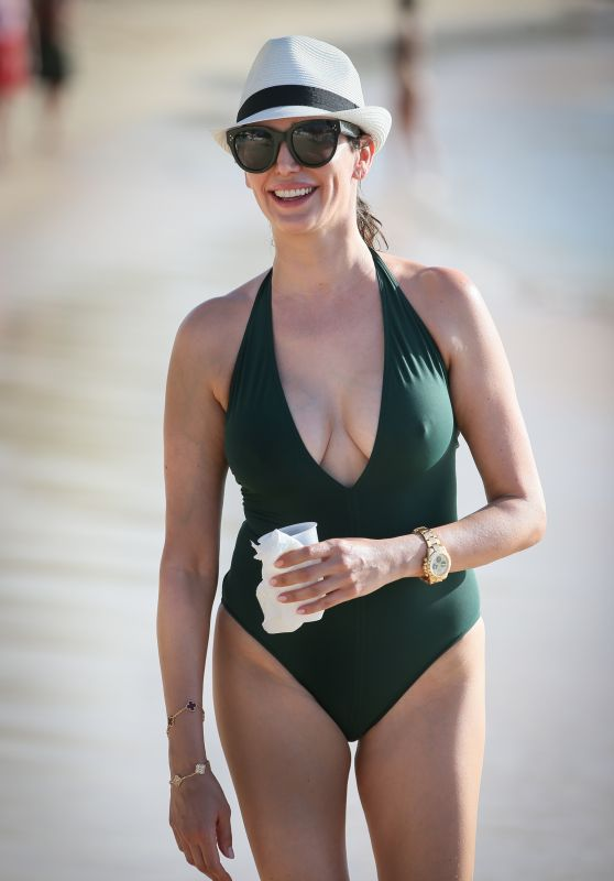 Lauren Silverman in Swimsuit at the beach in Barbados