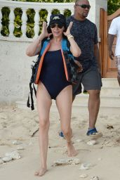 Lauren Silverman in Swimsuit - Taking a Jet Ski for a Ride in Barbados