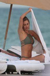 Lauren Stoner in an Olive Bikini at the Beach in Miami Beach