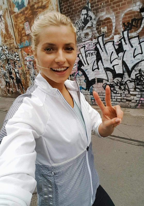 Lena Gercke - Call Me an Early Bird Photoshoot for Adidas 2017