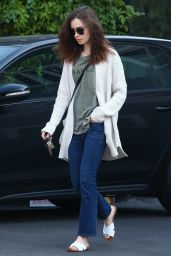 Lily Collins Casual Style - Hollywood 12/16/2017