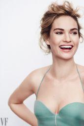 Lily James - Photoshoot for Vanity Fair November 2017