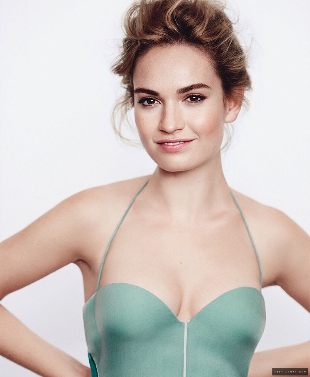 Lily James Photoshoot For Vanity Fair November 2017