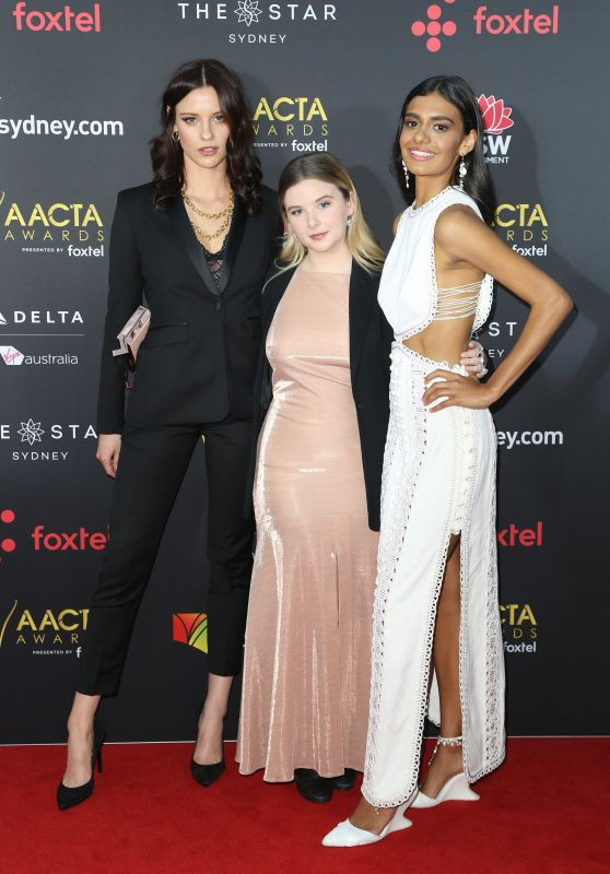 Lily Sullivan, Ruby Rees and Madeleine Madden – AACTA Awards2017 Red Carpet in Sydney