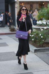 Lisa Vanderpump and her Husband Ken Vanderpump Shopping on Rodeo Drive in Beverly Hills