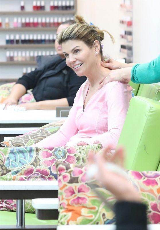 Lori Loughlin Mani-Pedi at a Nail Salon in Beverly Hills