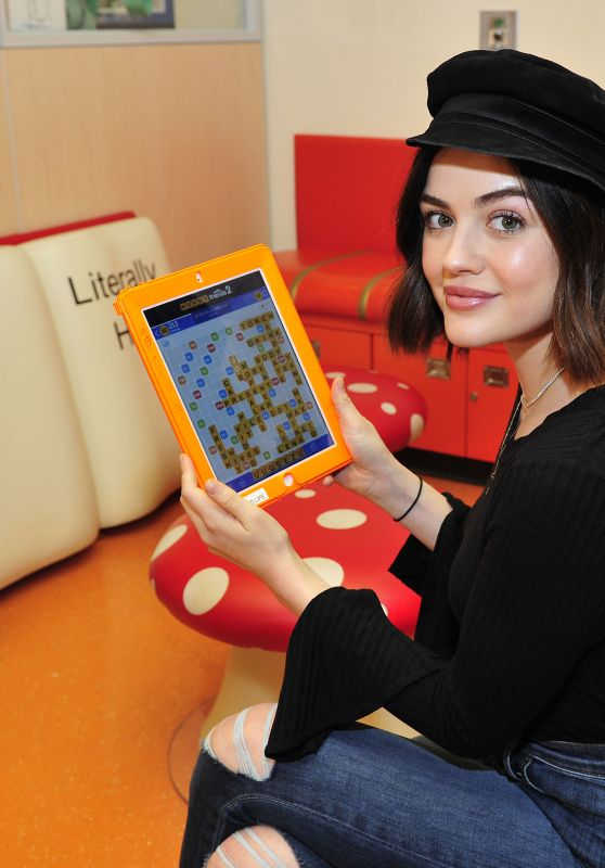 Lucy Hale at Children`s Hospital in Los Angeles 12/02/2017