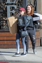 Lucy Hale Outside of Granville Restaurant in Studio City 12/25/2017