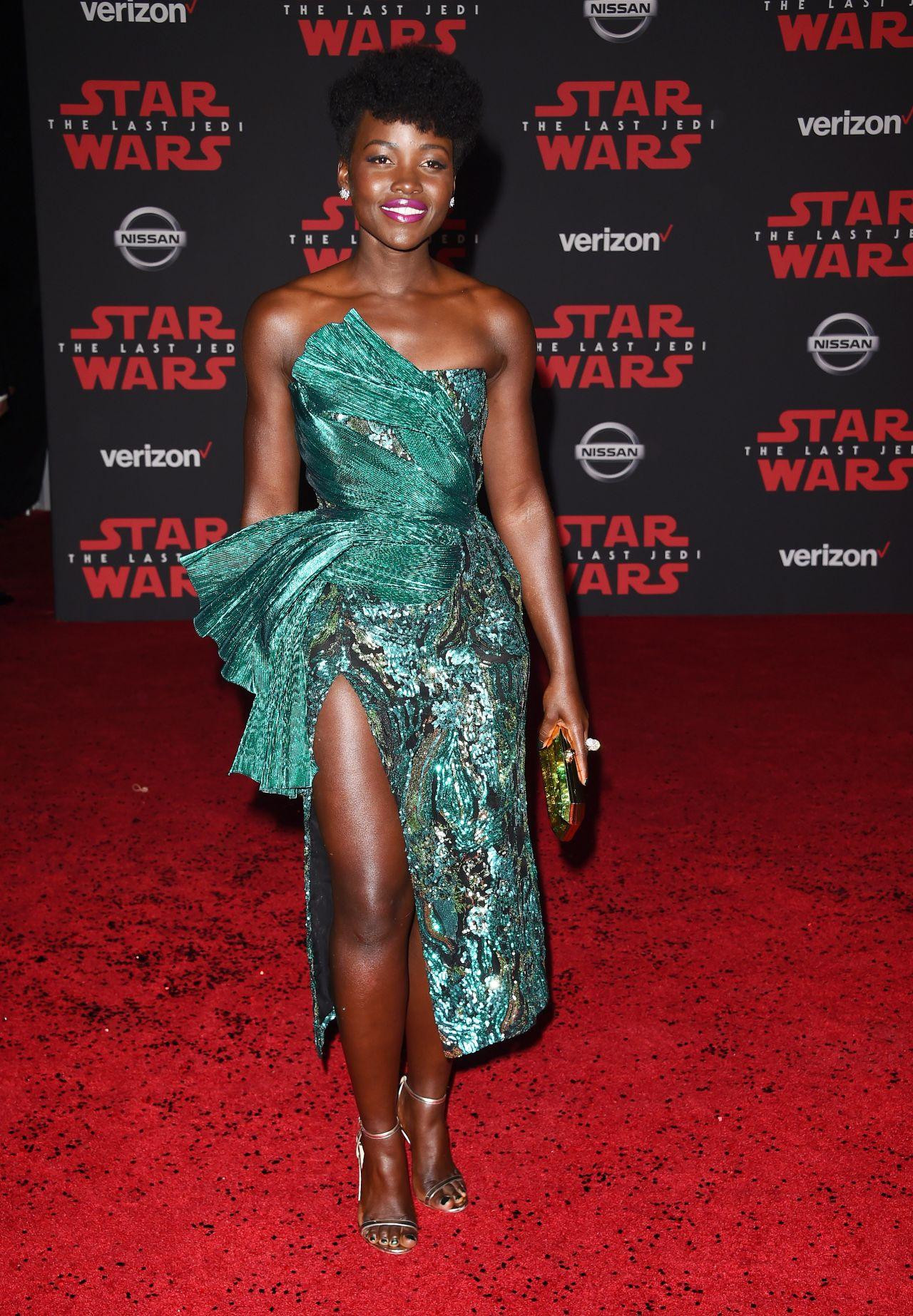 Lupita Nyong O Star Wars The Last Jedi Premiere In La
